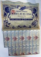 Action 5000 Francs Compagnie Française Du Haut Et Du Bas Congo AEF éléphant 1929 - Actions & Titres