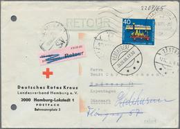 Nachlässe: 1940er-90er Jahre Ca.: Ein Karton Mit Hunderten Von Briefe, Postkarten Und Ganzsachen, Fa - Stamps