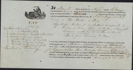Connaissement Illustré Marchandises Sur Quai Bordeaux 1842 Pour Madras Inde Navire Le Gange Ustensiles Cuisine Portes - 1801-1848: Precursors XIX