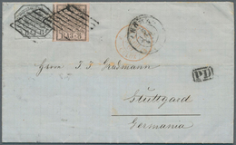 """Italien - Altitalienische Staaten: Kirchenstaat: 1862. Letter With Named Franking From """"Rome"""" To Stu - Papal States"""