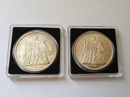 LOT DE 2 PIECES DE 10 Francs Argent 1965 ET 1970 HERCULE - K. 10 Franchi