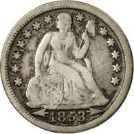 Monnaie, États-Unis, Seated Liberty Dime, Dime, 1853, U.S. Mint, Philadelphie - Federal Issues