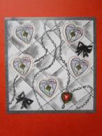 Planche Bloc 5 Timbres St Valentin 2004 Flacon De Parfum CHANEL - Y&T N° 66 - Feuilles Complètes