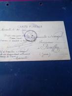 CP  En Franchise Cachet Violet  DEPOT DES TRAVAILLEURS COLONIAUX  Pour ROUFFEY Jura - Marcophilie (Lettres)