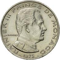 Monnaie, Monaco, Rainier III, 1/2 Franc, 1975, TTB, Nickel, Gadoury:149, KM:145 - 1960-2001 Nouveaux Francs
