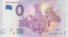 Billet Touristique 0 Euro Souvenir Allemagne Zoo Dortmund 2018-1 N°XECQ007653 - Privéproeven
