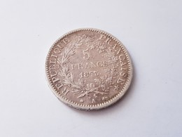 5 FRANCS TYPE HERCULE ARGENT 1873 A TTB - Francia