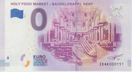 Billet Touristique 0 Euro Souvenir Belgique Holy Food Market Baudelokapel Gent 2018-1 N°ZEAK000151 - EURO