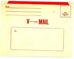 GUERRE 1939/45 CL NEUVE SERVICE V-MAIL AMERICAIN EN AFRIQUE DU NORD DES L ARRIVEE DES AMERICAINS CE SERVICE EST ANALOGUE - Poststempel (Briefe)