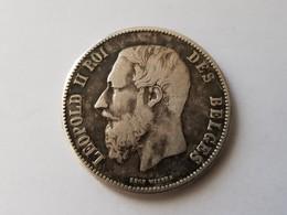 5 Francs Leopold 2 - 1871 - Argent - 1865-1909: Leopold II