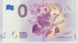 Billet Touristique 0 Euro Souvenir Chine Panda 2018-1 N°CNAB014670 - EURO