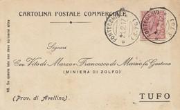 Fontecchio. 1917. Annullo Frazionario ( 3 - 76 ), Su Cartolina Postale Commerciale - Marcophilie