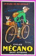 Cpa Publicité MECANO Cycles Saint Etienne Martin Dupin Rare Carte Postale Publicitaire Réclame St - Werbepostkarten