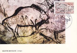 Carte-Maximum FRANCE N° Yvert 2043 (GROTTE De NIAUX) Obl Sp Ill 1er Jour (Ed FDC) - 1970-79