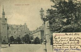 BERNBURG, Kreishaus Und Theater (1900) AK - Bernburg (Saale)