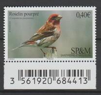 Saint Pierre Et Miquelon 2016 : N° 1148 - Oiseau Roselin Pourpré -  Neuf ** Avec Bord De Feuille - - St.Pierre & Miquelon