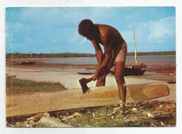 Nouvelle Calédonie Ile Des Pins Tailleur De Pirogue Métier Ed Photo Sanuy De Nouméa 1970 - Nouvelle Calédonie