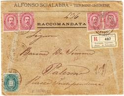 1900 R- Brief Aus Termini Imerese Nach Palermo; Gebrauchsspuren - 1900-44 Victor Emmanuel III.