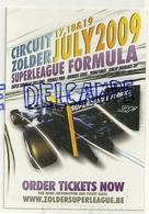 Publicité Pour La Superleague Formula. Circuit Zolder 2009. Boomerang - Grand Prix / F1