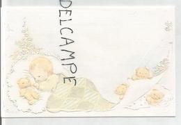 Nathalie Robert, Née Le 01/08/1988 à Verviers. Bébé Endormi Et Oursons. - Geboorte & Doop