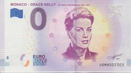 Billet Touristique 0 Euro Souvenir Monaco Grace Kelly 2018-1 N°UEMA002303 - Essais Privés / Non-officiels