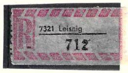 Einschreibzettel 7321 Leisnig - DDR