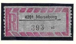 Einschreibzettel 4201 Merseburg - DDR