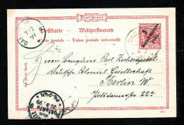 1899 - 5 P. Ganzsache Ab BAGAMOYO Nach Berlin - Colonie: Afrique Orientale