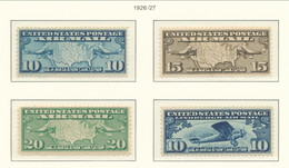 USA 1926-1927 Air Mail Scott # C7-C10. United States And Two Mail Planes. MNH(**). - Air Mail