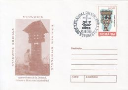 73146- CRUCIFIX, RELIGIOUS PILGRIMAGE, SPECIAL COVER, 2000, ROMANIA - 1948-.... Républiques