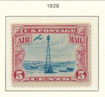 USA 1928Air Mail Scott # C11. Beacon On Rocky Muntains. MNH(**). - 1b. 1918-1940 Unused