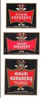 3 Etiquettes  RHUM KARUKERA  Agricole - 50% 50cl - Pointe à Pitre - GUADELOUPE - - Rhum