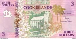 COOK ISLANDS  P. 7a 3 D 1992 UNC - Cook