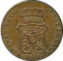 Ref. 532-977 - COI SPAIN . 1838. ISABEL II. CATALONIA 1838 - 3 CUARTOS. ISABEL II. CATALUÑA 1838 - 3 CUARTOS - [ 1] …-1931 : Kingdom
