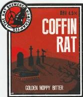 RAT BREWERY (HUDDERSFIELD, ENGLAND) - COFFIN RAT BITTER - PUMP CLIP FRONT - Signs