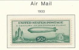 USA 1933Air Mail Scott # C18. Graf Zeppelin. MNH(**) VF-NH - Air Mail