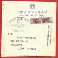 PIEGO VG ITALIA - ORDINARIA - Pacchi Postali £ 20 Doppia Sezione Uso Segnatasse  - 11 X 11 - 1967 Annullo T - 6. 1946-.. Repubblica