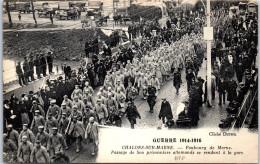 51 CHALONS SUR MARNE - Passage De Prisonniers Allemands Fbg De Marne - Camp De Châlons - Mourmelon