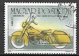 HONGRIE    -     MOTO   /  HARLEY DAVIDSON   -     Oblitéré . - Moto