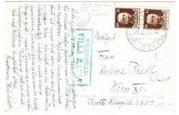 1935 AK Aus Siracusa; Stempel Siracusa M. Villa St. Giovanni Nr.2 + Grüner Hotelstempel Villa Maria - 1900-44 Victor Emmanuel III.