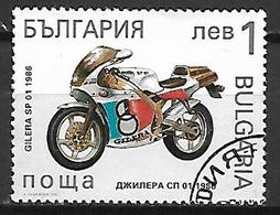 BULGARIE    -     MOTO   /  GILERA  -     Oblitéré . - Moto