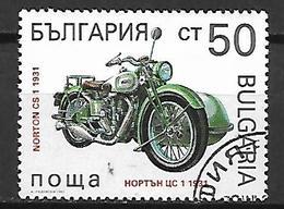 BULGARIE    -     MOTO   /  NORTON  -     Oblitéré . - Moto
