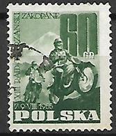 POLOGNE    -     MOTO   /   COURSE  -     Oblitéré . - Moto