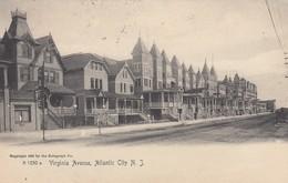 USA - CP 1909 - VIRGINIA AVENUE ATLANTIC CITY - MORRISTOWN TO BORDEAUX  FRANCE /1 - Atlantic City