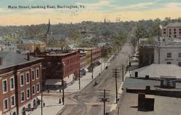 USA - CP 1916 - MAIN STREET LOOKING EAST BURLINGTION Vt TO BORDEAUX  FRANCE /1 - Burlington