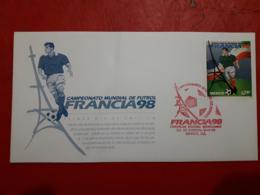La France Fdc Un Football Mondial 1998 - Coupe Du Monde