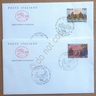 FDC Cavallino Italia Repubblica 1995 - Natale - 2 NVG - Annullo Figurato - Francobolli