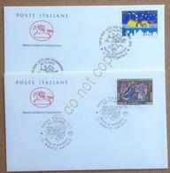 FDC Cavallino Italia Repubblica 2001 - Natale - 2 Non Viaggiate - Francobolli