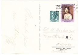 1962 AK Aus Italien Nach Wien; 10 Lire Vatikan Marke Mit Italien 20 Lire Ganzsachenausschnitt - Varietà E Curiosità