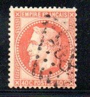 France / N 31 / 40 Centimes Orange / Oblitéré / Côte 25 € - 1863-1870 Napoleon III With Laurels